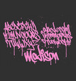 marker graffiti font handwritten typography vector image