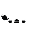 meat and tea black vector image
