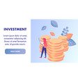 money investment flat landing page template vector image