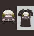 racing car design t shirt with artwork modern vector image vector image