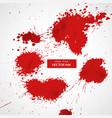 red blood splatter set vector image vector image