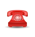 Red Phone with Rotary Dial isolated vector image vector image