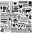 restaurant pattern vector image vector image