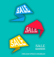 sale banners origami style vector image vector image