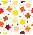 seamless tileable pattern with puzzle pieces vector image vector image