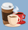 set coffee drinks icons vector image vector image