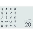 Set of gynecology icons vector image