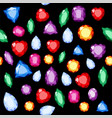 set of realistic jewels colorful gemstones vector image vector image