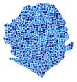 sierra leone map mosaic of pixels vector image