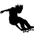 skateboarder doing tricks vector image