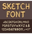 Sketch Alphabet set vector image vector image