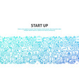 start up concept vector image vector image
