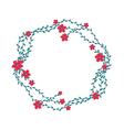 the floral concept circle frame vector image