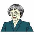 theresa may prime minister uk vector image