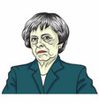 theresa may the prime minister of the uk vector image vector image