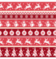 traditional christmas red seamless pattern vector image vector image
