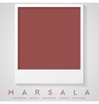Trendy color marsala 2015 Polaroid frame