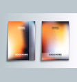 two gradient cover template design for flyer vector image vector image