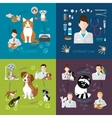 Veterinary flat set with cat and dog hospital vector image vector image