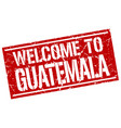 welcome to guatemala stamp vector image vector image