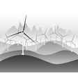 Wind electricity generators and windmills vector image vector image
