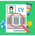 concept personal resume vector image