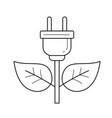 energy plug line icon vector image