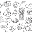 Hand draw fruits pattern vector image