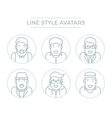 People Line Avatars vector image