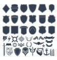 set of empty shapes for military badges army vector image