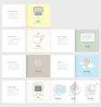 Set of Flyer Brochure Design Templates for Busine vector image