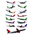 al 0441 set of planes vector image