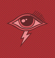 all seeing eye of horus vector image vector image