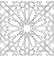 Arabic motif in black and white vector image