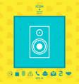 audio speaker icon vector image vector image