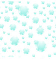 azure soap bubbles seamless pattern vector image