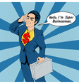 Banner with Super Businessman vector image vector image