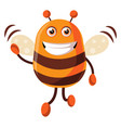 bee is waving on white background vector image vector image