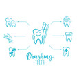 brushing teeth inspirational motivation poster vector image