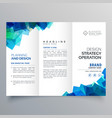 Business trifold brochure layout template