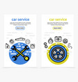 car service vertical banners vector image vector image