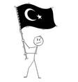 cartoon man waving flag republic of vector image