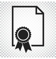 certificate icon diploma symbol flat on isolated vector image vector image