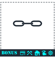 Chain icon flat vector image vector image