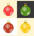 christmas balls set collection vector image