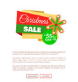 christmas gingerbread snowflake web poster vector image vector image