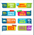 collection colorful sale stickers and tags 2 vector image vector image