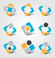 Colorful business icon collection vector image vector image