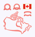 Colors of Canada vector image