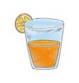Delicious orange juice vector image vector image